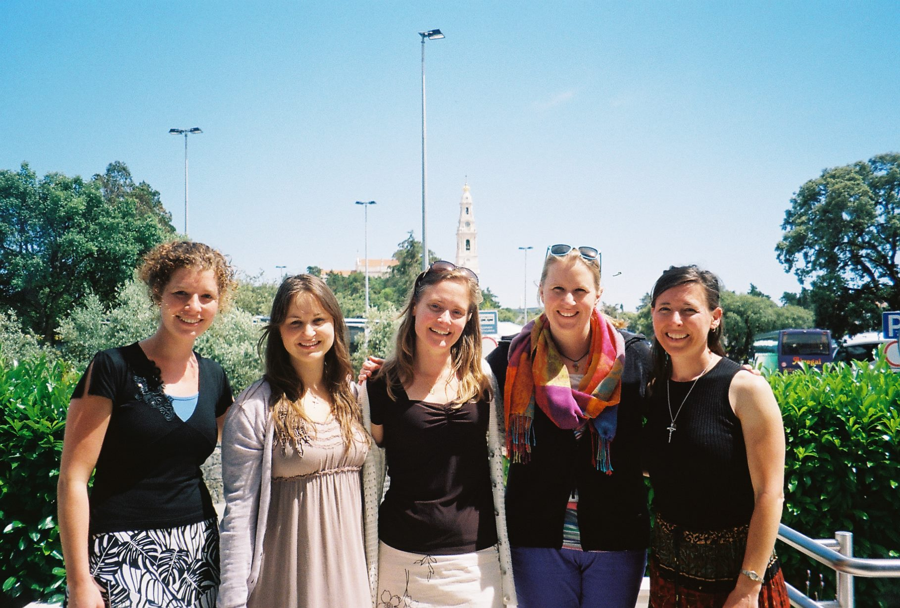 ITI students with a couple of new friends at the Theology of the Body International Symposium in Fatima, Portugal (June 13-16, 2013).